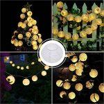 Guirlande Lumineuse Lampe Solaire Exterieur Jardin, Bawoo 30 LEDs 5.5M mpe Lampion Décoration Guirlande Guinguette Lanternes Solaire Etanche IP65 de Soirée Mariage Anniversaire Festivale Jardin Magasin Maison - Blanche Chaude de la marque Bawoo image 1 produit