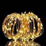 Guirlande Lumineuse LED, ACDE [2 Pack] 10M 100 LEDs Lumière Décorative Fonctionnant sur Batterie, Imperméable 8 Modes Télécommande - Jaune Chaud de la marque ACDE image 1 produit