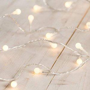 Guirlande Lumineuse LED avec 40 Petites Boules Blanc Chaud sur Câble Transparent de la marque Lights4fun image 0 produit