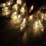 Guirlande lumineuse à LED à clips Photo -40clips photo, 5m Fonctionne à piles - Éclairage d'ambiance - Décoration pour photos, mémos, œuvres d'art suspendus de la marque cdsnxore image 3 produit