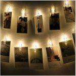 Guirlande lumineuse à LED à clips Photo -40clips photo, 5m Fonctionne à piles - Éclairage d'ambiance - Décoration pour photos, mémos, œuvres d'art suspendus de la marque cdsnxore image 1 produit