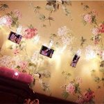 Guirlande lumineuse à LED à clips Photo -40clips photo, 5m Fonctionne à piles - Éclairage d'ambiance - Décoration pour photos, mémos, œuvres d'art suspendus de la marque cdsnxore image 2 produit