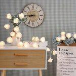 Guirlande Lumineuse Pile LED avec 20 Fleurs Rose Eclairage de Décoration pour Guinguette,Chambre, Jardin, Mariage, Fête,Fenêtre,Bar, (20 LED Blanc Chaud) de la marque O'BLACK image 3 produit
