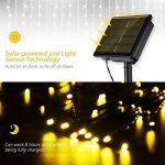 Guirlande lumineuse solaire 200 LED étanche Mpow - 22m, 8 modes - Idéale pour le jardin, la maison, une terrasse, une cour, des arbres, une fête, un mariage - Blanc chaud de la marque Mpow image 1 produit