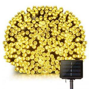 Guirlande lumineuse solaire 200 LED étanche Mpow - 22m, 8 modes - Idéale pour le jardin, la maison, une terrasse, une cour, des arbres, une fête, un mariage - Blanc chaud de la marque Mpow image 0 produit