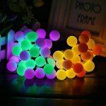 Guirlande Lumineuse Solaire 60 Boule LED, 10m Fil Souple Imperméable 8 Modes Eclairage Décoration pour Maison, Jardin, Festival etc (Multicolore) de la marque GRDE image 1 produit