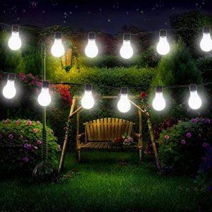 Guirlande Lumineuse Solaire Ampoules,KINGCOO Imperméable 10 LED Globe Boules Lumières Décoratives Lampes à Cordes pour intérieur/Extérieur,Jardin,Décorations de Noël Éclairage (Blanc) de la marque KINGCOO image 0 produit