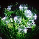 Guirlande Lumineuse Solaire Ampoules,KINGCOO Imperméable 10 LED Globe Boules Lumières Décoratives Lampes à Cordes pour intérieur/Extérieur,Jardin,Décorations de Noël Éclairage (Blanc) de la marque KINGCOO image 2 produit