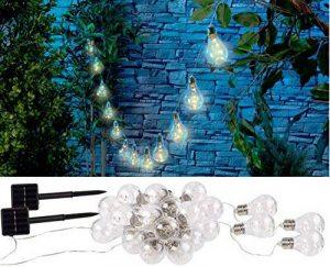 Guirlande lumineuse solaire à LED design ampoule classique - 8,5 m - x2 de la marque Lunartec image 0 produit