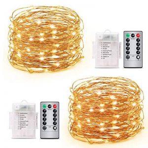 Guirlande Lumineuse Spriak [Paquet de 2] 5M 50 LEDs, LED Etanche à Piles Extérieur/Intérieur, 8 modes, Fonction Minuterie, Décoration Maison,Fêtes, Mariages de la marque Spriak image 0 produit