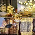Guirlande Lumineuse Spriak [Paquet de 2] 5M 50 LEDs, LED Etanche à Piles Extérieur/Intérieur, 8 modes, Fonction Minuterie, Décoration Maison,Fêtes, Mariages de la marque Spriak image 4 produit