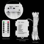Guirlande lumineuse [Télécommande et minuterie] Fonctionne sur piles étanche (5 M 40 LED, 8 modes, IP65, blanc chaud) de la marque KooPower image 1 produit