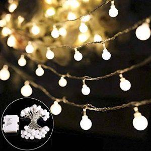 Guirlande Lumineuses Boules B-right, [Timer] Led Guirlandes 40 LED 8 Modes Petites Balles blanc chaud étanche IP44 Décoration Romantique pour Fête De Noël Anniversaire De Mariage (4.5m) de la marque B-right image 0 produit