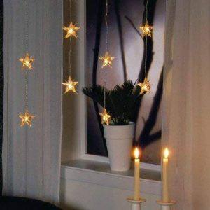 Guirlande rideau lumineuse 20 étoiles blanc chaud de la marque Best Season image 0 produit
