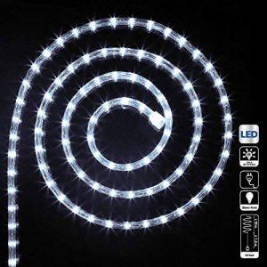 Guirlande Tube Lumineux 24 mètres Ampoules Led et 8 Jeux de Lumière - Coloris Blanc Froid de la marque FEERIC LIGHTS & CHRISTMAS image 0 produit