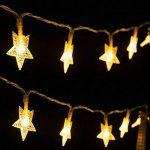 Guirlandes Lumineuse Etoiles Led à Piles - 5m 40-LEDs étoilé LED guirlandes Chaine de lampes - Blanche chaude Décor Chambre Maison Jardin Terrasse pour Fête Noël Mariage Anniversaire Soirée de la marque cdsnxore image 2 produit