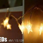 Guirlandes Lumineuse Etoiles Led à Piles - 5m 40-LEDs étoilé LED guirlandes Chaine de lampes - Blanche chaude Décor Chambre Maison Jardin Terrasse pour Fête Noël Mariage Anniversaire Soirée de la marque cdsnxore image 3 produit