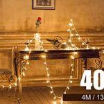 Guirlandes Lumineuse Etoiles Led à Piles - 5m 40-LEDs étoilé LED guirlandes Chaine de lampes - Blanche chaude Décor Chambre Maison Jardin Terrasse pour Fête Noël Mariage Anniversaire Soirée de la marque cdsnxore image 4 produit