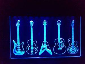 Guitare/Guitars lumineux Enseigne Panneau neuf LED chargement Publicité Fluo Neon Bar Disco Music Boutique de la marque Zhengdian Electronic image 0 produit
