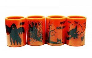 Haac Lampe bougie LED Halloween Taille 10cm x 7,3cm Couleur Orange/Noir de la marque HAAC image 0 produit