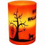Haac Lampe bougie LED Halloween Taille 10cm x 7,3cm Couleur Orange/Noir de la marque HAAC image 3 produit