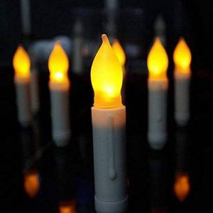 Hansemay Ensemble sans Flammes DE 12 Bougies LED Taper, Ampoules Clignotantes Jaunes Piles LED Pilier pour décoration intérieure Anniversaire, Églises, Fêtes et Noël, Piles Non incluses de la marque Hansemay image 0 produit