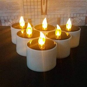 HAPPY ELEMENTS 6 Pcs Solaire Led Bougie Mariage Décoration romantique blanc chaud Tea Light de la marque HAPPY ELEMENTS image 0 produit