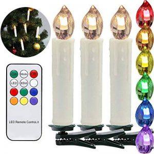 Hengda 30 Set LED bougies guirlandes de sapin de Noël avec télécommande fonction minuterie RGB LED bougies arbre bougie sans fil de la marque Hengda image 0 produit