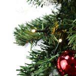 Hengda 5M Couronne de Noël Grandes Guirlandes Fleurs Artificielles Décoration de Noël illuminé 100 LED Blanc Chaudpour Magasins,Bureaux,Maison Porte,Sapin de Noël de la marque Hengda image 3 produit