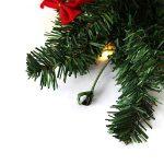Hengda 5M Couronne de Noël Grandes Guirlandes Fleurs Artificielles Décoration de Noël illuminé 100 LED Blanc Chaudpour Magasins,Bureaux,Maison Porte,Sapin de Noël de la marque Hengda image 2 produit