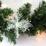 Hengda 5M Couronne de Noël Grandes Guirlandes Fleurs Artificielles Décoration de Noël illuminé 100 LED Blanc Chaudpour Magasins,Bureaux,Maison Porte,Sapin de Noël de la marque Hengda image 4 produit