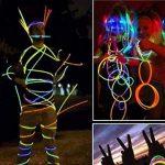 HHD® Lot de 50 Bâtons lumineux fluorescents, Glowsticks, Fluos Lumineux! Bracelets fluorescents lumineux, 5 couleurs différentes avec connecteur ! Couleurs tendance! 200mm x 6mm. Idéal pour le fête! de la marque HHD image 2 produit