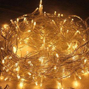 HJ® 30M 300LEDs Blanc Chaud LED Guirlande Lumineuse Décor Chambre Maison Jardin Terrasse Pelouse de la marque hejun image 0 produit