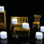 Homemory Bougies LED,Lot de 12,Sans Flamme,blanc froid,Puissance de la Batterie, Fausses Bougies électriques pour Votive, Table Party Anniversaire Mariage de la marque Homemory image 3 produit
