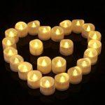 Homemory Lot de 24 Lumières Bougies à LED, Sans Flamme, Réaliste et Bright, Puissance de la Batterie, Fausses Bougies électriques pour Votive, Table Party Anniversaire Mariage(blanc chaud) … de la marque Homemory image 2 produit