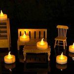 Homemory Lot de 24 Lumières Bougies à LED, Sans Flamme, Réaliste et Bright, Puissance de la Batterie, Fausses Bougies électriques pour Votive, Table Party Anniversaire Mariage(jaune clair) de la marque Homemory image 4 produit