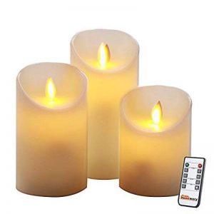 Homemory lot de 3, led bougies, flamme vacillante,télécommande,minuteur de la marque Homemory image 0 produit