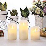 Homemory lot de 3, led bougies, flamme vacillante,télécommande,minuteur de la marque Homemory image 3 produit