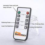 Homemory lot de 3, led bougies, flamme vacillante,télécommande,minuteur de la marque Homemory image 4 produit