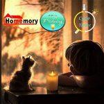 Homemry 5 pouces Bougies LED à Piles en Cire Véritable Flamme Vacillante avec Télécommande de la marque Homemory image 2 produit