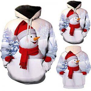 Homme Sweat Imprimé Col Rond Noël Sweatshirt Full Print Pere Deco Renne Arbre Noel Motif Shirt Pull Christmas Sweat-Shirt de la marque Roiper image 0 produit