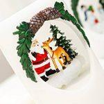 Hungrybubble Flambeau réaliste de lumière de Bougie sans Flamme LED de Bougie cylindrique de Noël, décoration de Cadeau pour Noël de Vacances de Partie (Color : Santa Claus) de la marque Hungrybubble image 2 produit
