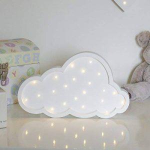 [Idée Cadeau] Enseigne Lumineuse Nuage en Bois MDF 22 LED à Piles - Décoration Chambre Enfants, Bébés de la marque Festive Lights image 0 produit