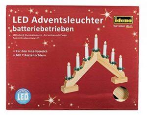 Idena Chandelier de l'avent avec 7chandelles Naturel, avec LED de la marque Idena image 0 produit