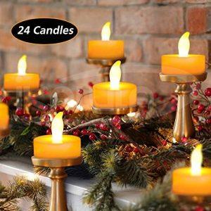 iKALULA Bougies à LED Sans Flamme, Lot de 24 Plastique Bougies à LED Eclairage LED à Lumière à Pile Bougies LED Lampe pour Soirée Anniversaire Mariage Fête Noël (Pile Incluses) de la marque iKALULA image 0 produit