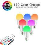 iLC LED Ampoules de couleur Edison Changement de Couleur Ampoule RGB+Blanc Dimmable - 120 Choix de Couleur - 10Watt E27 Types RGBW LED Ampoules - 2 Modes Dynamiques - Télécommande Compris de la marque iLC image 2 produit