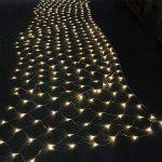 IMAGE 4,5m * 1,5m 300 LED Guirlande Lumineuse Filet Rideau de Lumière Féeriques Eclairage Décoration Bonne Luminosité et Faible Puissance avec 8 Modes de Fonctionnement Pour Fête Mariage Blanc Chaud de la marque AGPTEK image 2 produit