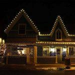 IMAGE 4,5m * 1,5m 300 LED Guirlande Lumineuse Filet Rideau de Lumière Féeriques Eclairage Décoration Bonne Luminosité et Faible Puissance avec 8 Modes de Fonctionnement Pour Fête Mariage Blanc Chaud de la marque AGPTEK image 3 produit