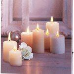 infactory - Tableau Lumineux à LED lumière vacillante Rose et Bougies 30 x 30 cm de la marque infactory image 1 produit