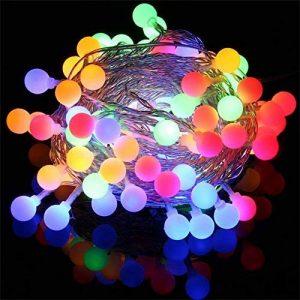 Innoo Tech Guirlande Lumineuse d'intérieur 100 LED boules, Longueur 10M, 8 Modes, Prise EU, Multicolore pour Mariage Fête Café Chambre Pâques Noël [Classe énergétique A+++] de la marque Innoo Tech image 0 produit